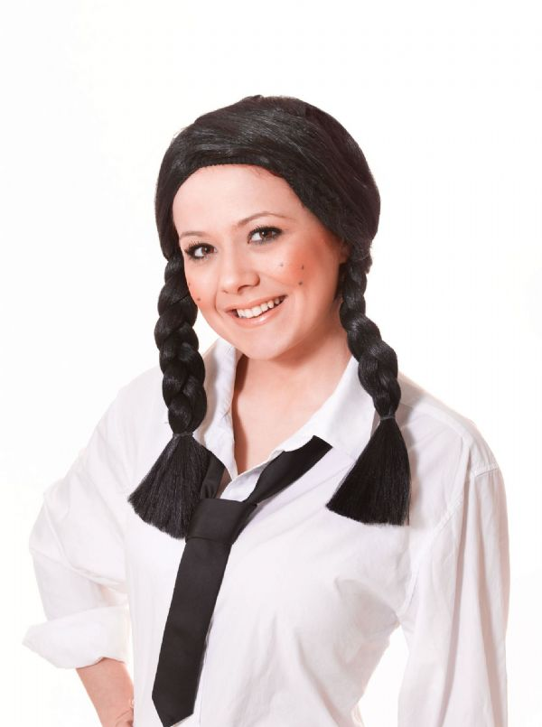 Ladies Schoolgirl Wig School Girl Student Graduate Fancy Dress